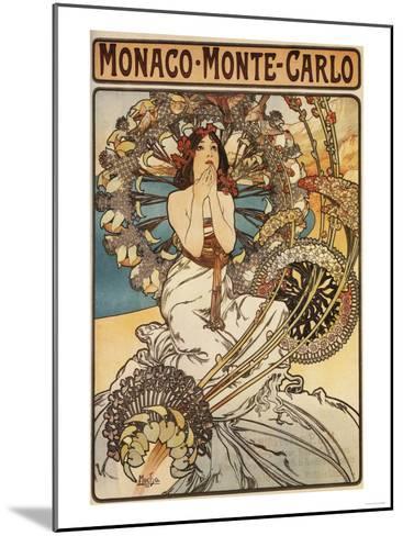 Monte Carlo, Monaco - Woman with Feathers-Lantern Press-Mounted Art Print