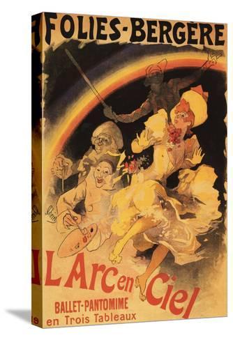 Paris, France - L'Arc-en-Ciel Ballet at Folies-Bergere Theatre Poster-Lantern Press-Stretched Canvas Print