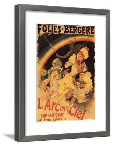 Paris, France - L'Arc-en-Ciel Ballet at Folies-Bergere Theatre Poster-Lantern Press-Framed Art Print
