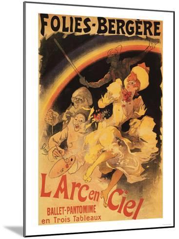 Paris, France - L'Arc-en-Ciel Ballet at Folies-Bergere Theatre Poster-Lantern Press-Mounted Art Print