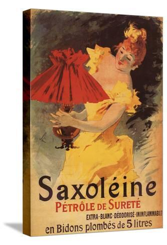 Paris, France - Saxoleine Lamp Oil Red Lampshade Promotional Poster-Lantern Press-Stretched Canvas Print