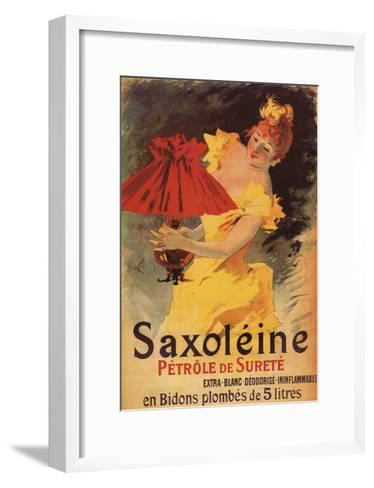 Paris, France - Saxoleine Lamp Oil Red Lampshade Promotional Poster-Lantern Press-Framed Art Print