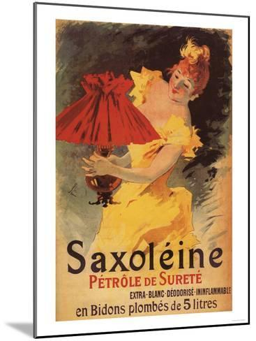 Paris, France - Saxoleine Lamp Oil Red Lampshade Promotional Poster-Lantern Press-Mounted Art Print