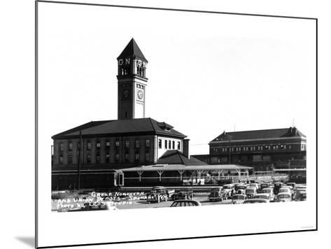 Spokane, Washington - Exterior View of Great Northern and Union Depots-Lantern Press-Mounted Art Print
