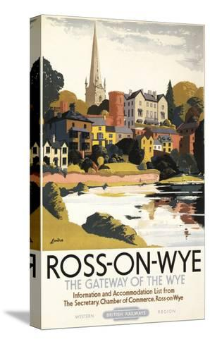Ross-on-Wye, England - River Scene of Town British Railways Poster-Lantern Press-Stretched Canvas Print