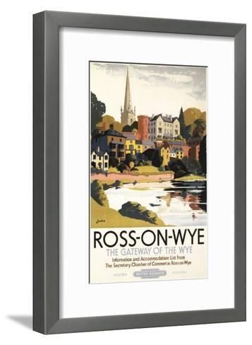 Ross-on-Wye, England - River Scene of Town British Railways Poster-Lantern Press-Framed Art Print