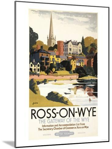 Ross-on-Wye, England - River Scene of Town British Railways Poster-Lantern Press-Mounted Art Print
