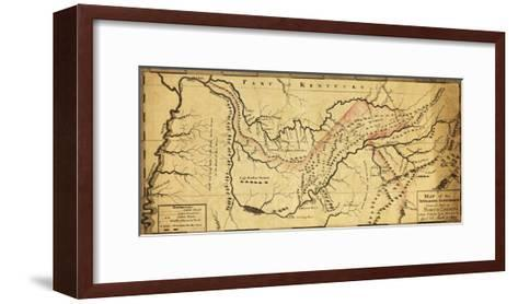 Tennessee Government - Panoramic Map-Lantern Press-Framed Art Print