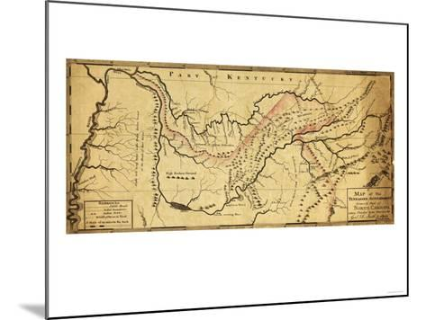 Tennessee Government - Panoramic Map-Lantern Press-Mounted Art Print