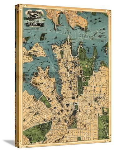 Sydney, Australia - Panoramic Map-Lantern Press-Stretched Canvas Print