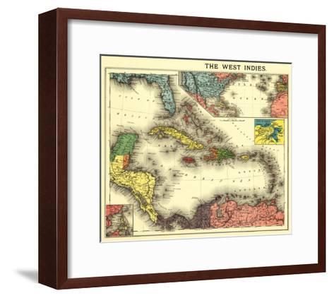 West Indies - Panoramic Map-Lantern Press-Framed Art Print