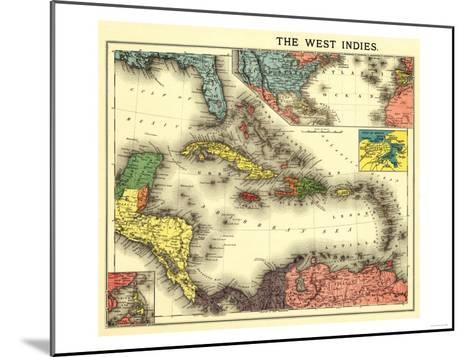 West Indies - Panoramic Map-Lantern Press-Mounted Art Print