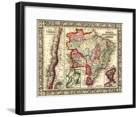 South America - Panoramic Map-Lantern Press-Framed Art Print
