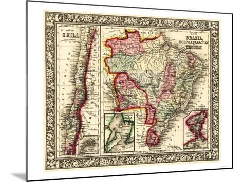 South America - Panoramic Map-Lantern Press-Mounted Art Print