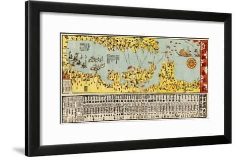 Coast Defense of Tokyo Bay of Japan - Panoramic Map-Lantern Press-Framed Art Print