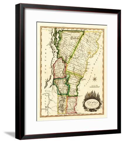 Vermont - Panoramic Map-Lantern Press-Framed Art Print