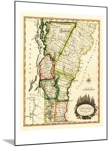 Vermont - Panoramic Map-Lantern Press-Mounted Art Print