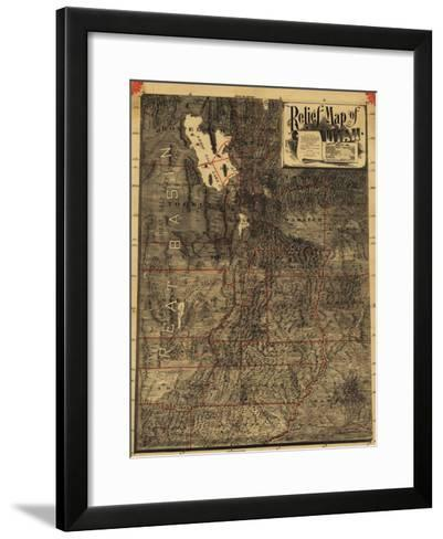 Utah - Panoramic Map-Lantern Press-Framed Art Print