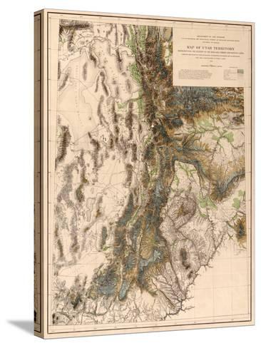 Utah - Panoramic Map-Lantern Press-Stretched Canvas Print