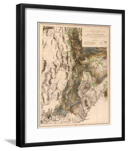Utah - Panoramic Map-Lantern Press-Framed Art Print