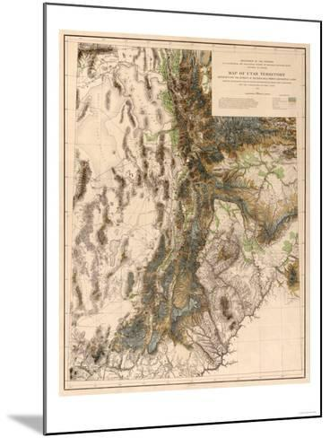 Utah - Panoramic Map-Lantern Press-Mounted Art Print