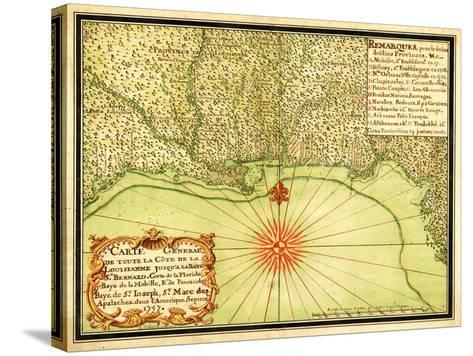 Gulf Coast of the United States - Panoramic Map-Lantern Press-Stretched Canvas Print