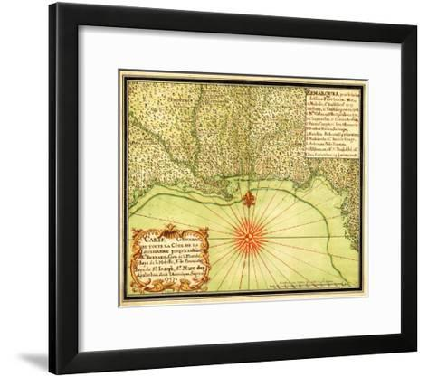 Gulf Coast of the United States - Panoramic Map-Lantern Press-Framed Art Print