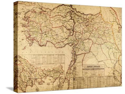 Turkey, Ottoman Empire - Panoramic Map-Lantern Press-Stretched Canvas Print