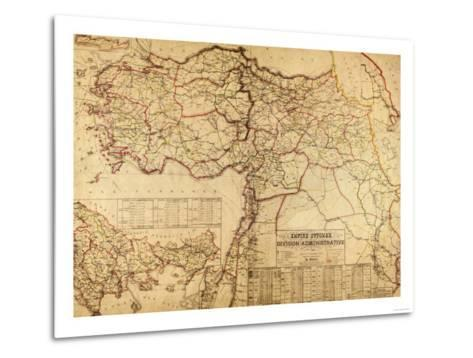Turkey, Ottoman Empire - Panoramic Map-Lantern Press-Metal Print