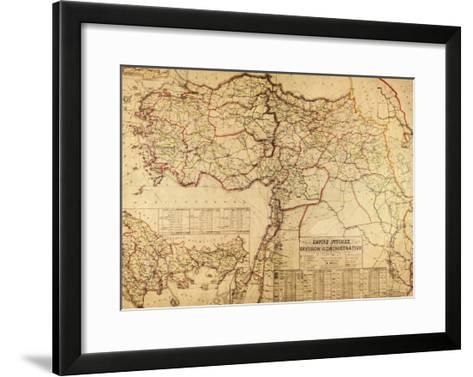 Turkey, Ottoman Empire - Panoramic Map-Lantern Press-Framed Art Print