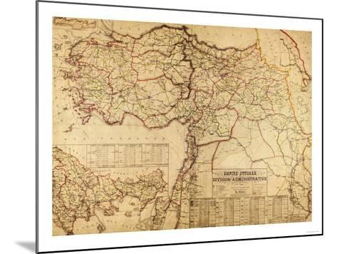 Turkey, Ottoman Empire - Panoramic Map-Lantern Press-Mounted Art Print