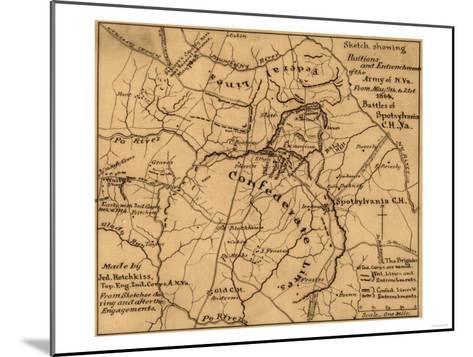 Battle of the Wilderness - Civil War Panoramic Map-Lantern Press-Mounted Art Print