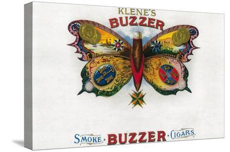 Buzzer Cigar Box Label-Lantern Press-Stretched Canvas Print