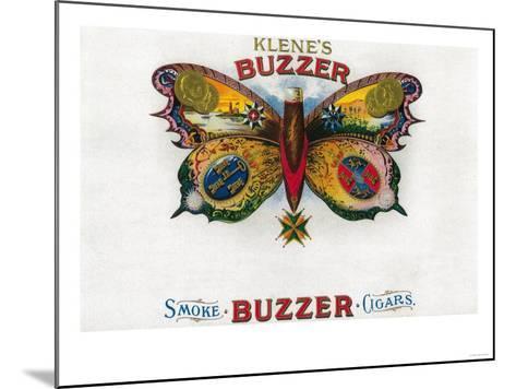 Buzzer Cigar Box Label-Lantern Press-Mounted Art Print