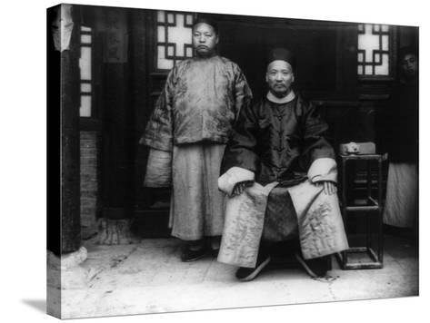City Magistrate and Son in China Photograph - Chao, China-Lantern Press-Stretched Canvas Print