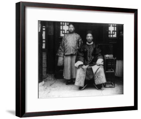 City Magistrate and Son in China Photograph - Chao, China-Lantern Press-Framed Art Print