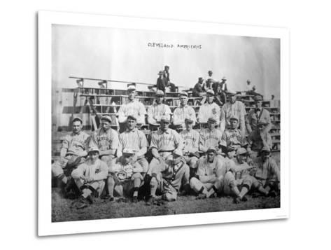 Cleveland Indians Team, Baseball Photo - Cleveland, OH-Lantern Press-Metal Print