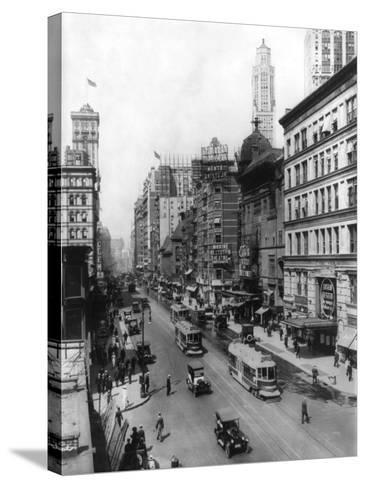 Broadway Theatres Winter Garden, Maxine Elliott's, Casino & Knickerbocker NYC Photo - New York, NY-Lantern Press-Stretched Canvas Print
