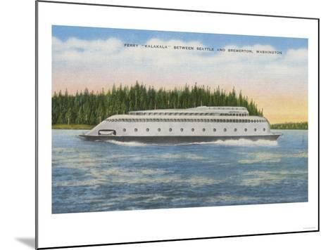 Seattle, WA - View of Kalakala Ferry on Puget Sound-Lantern Press-Mounted Art Print