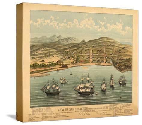 San Francisco, California - Panoramic Map No. 1-Lantern Press-Stretched Canvas Print