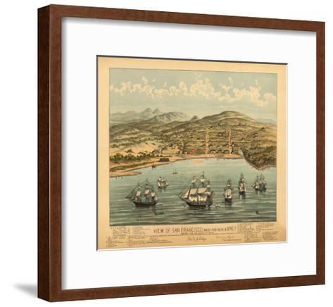 San Francisco, California - Panoramic Map No. 1-Lantern Press-Framed Art Print