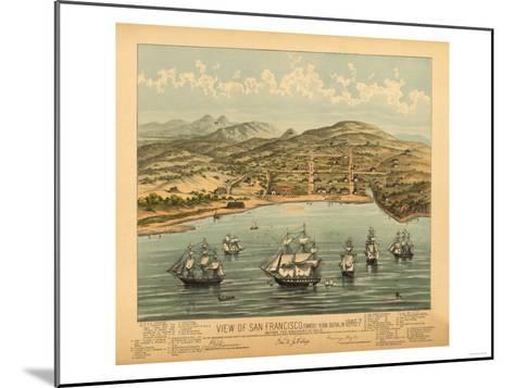 San Francisco, California - Panoramic Map No. 1-Lantern Press-Mounted Art Print
