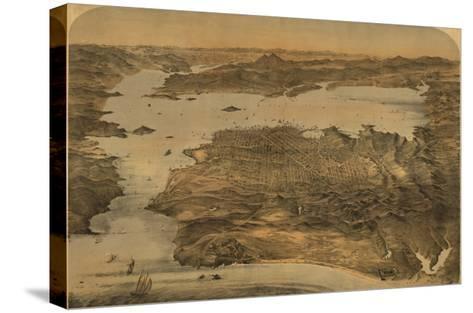 San Francisco, California - Panoramic Map No. 3-Lantern Press-Stretched Canvas Print
