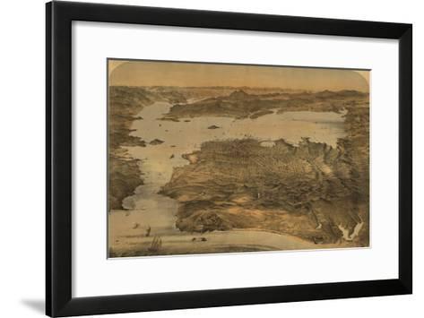 San Francisco, California - Panoramic Map No. 3-Lantern Press-Framed Art Print