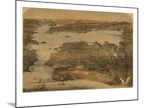 San Francisco, California - Panoramic Map No. 3-Lantern Press-Mounted Art Print