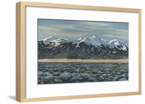 San Luis Valley, Colorado - Mt. Sierra Blanca View-Lantern Press-Framed Art Print
