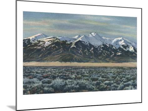 San Luis Valley, Colorado - Mt. Sierra Blanca View-Lantern Press-Mounted Art Print