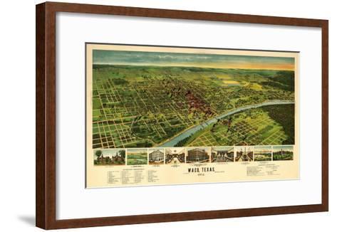 Waco, Texas - Panoramic Map-Lantern Press-Framed Art Print