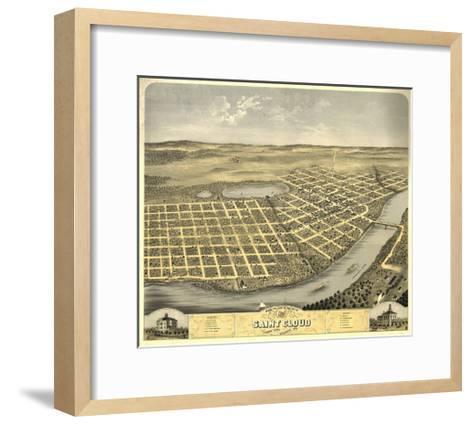 Saint Cloud, Minnesota - Panoramic Map-Lantern Press-Framed Art Print