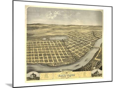 Saint Cloud, Minnesota - Panoramic Map-Lantern Press-Mounted Art Print